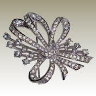 Panetta Crystal Rhinestone Bow Pin