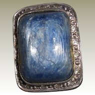 Vintage Angelique de Paris Ring size 6 Iolite White Topaz  Sterling Resin