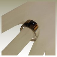 Vintage Sterling Ring with Tiger's Eye Cabochon - size 7.75