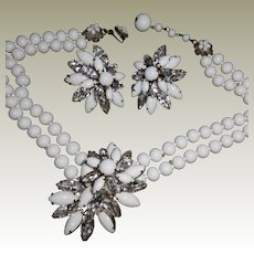 """Haskell Necklace and Clip Earrings -15+"""""""