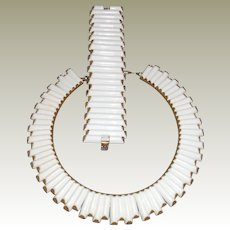 Trifari 'Syncopation' Demi Parure Necklace and Bracelet