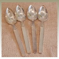 Twilight by Community – Silver Plate - 4 Fruit Spoons
