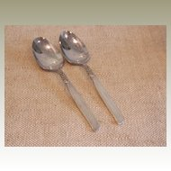 South Seas by Community – 2  Silver Plate Vintage Tablespoons (Serving Spoon)
