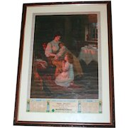 1912 Wales Advertising Print Poster entitled The Evening Prayer for Tower Tea S817