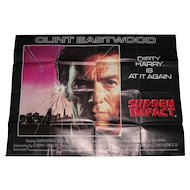 Film Dirty Harry Sudden Impact Cinema Quad Poster Advertisement Clint Eastwood Movie Star