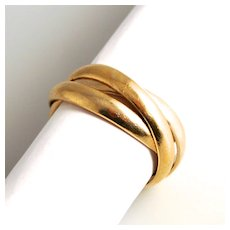 Vintage Sterling 925 Gilt Silver Trinity Treble Entwined Ring