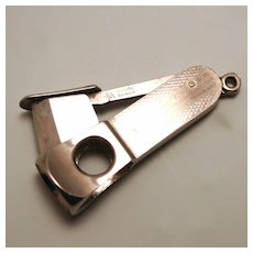 Vintage Pfeilring Cigar Cutter Guillotine Pocket Watch Fob