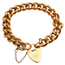 Vintage Rolled Gold Plate Link Chain Bracelet 20 Microns of Gold
