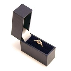 Vintage London 9 K Gold Sapphire Love Knot Promise Ring
