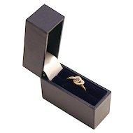 Vintage London 9 K Gold Sapphire Love Knot Promise Ring