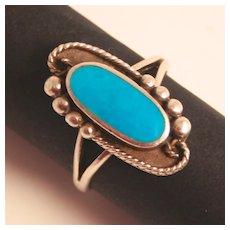 Art Deco 1920 Sterling Silver Enamel Ring