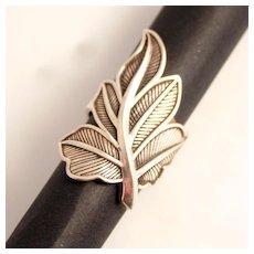 Vintage Thomas Sabo Sterling Silver Fig Leaf Ring