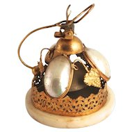 1880 Paris Palais Royal Bordello Bell Mother of Pearl and Ormolu with Vines and Grape Decorations  in Perfect Working Order S817