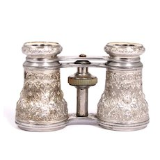 1860 Aluminium Opera Glasses French by Chevalier Paris S817