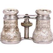 1860 Aluminium Opera Glasses French by Chevalier Paris S817