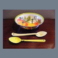 Vintage Metalware Bowl Salad Set