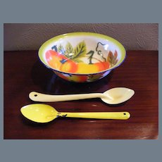 Vintage Metalware Bowl Salad Set