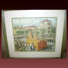 "Vintage UT University of Texas Framed Print ""Roundup Parade"""