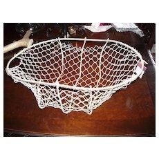 Antique Vegetable Harvest Hand Made Wire Basket