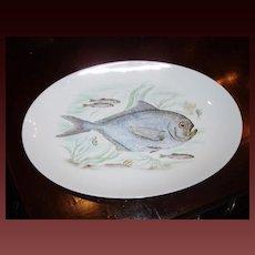 Vintage Hand Painted Fish Platter