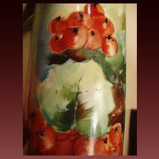 Antique P.H. Leonard Vienna Hand Painted Stein Currants