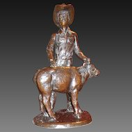 Rodeo Cattle Auction $350,000 WORLD RECORD Grand Champion Trophy Jim Reno Sculpture