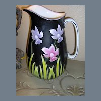 Empire Works E.P. CO. Large Transferware Pitcher with Tulips