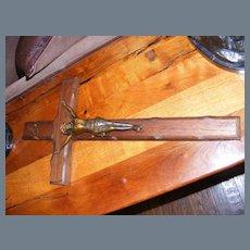 Vintage wood and metal Crucifix