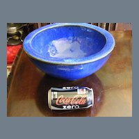 Vintage HEAVY enameled hand made art pottery bowl