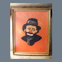 Clown Portrait dated 1983 Oil on Canvas (2 of 3)
