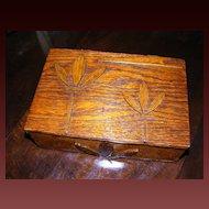 "Hand Made Folk Art Oak Wood Box for ""Mother"""