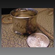 """Cute Silver Plated """"Baby"""" Napkin Ring Holder"""