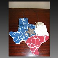 Hand Made Texas Tile Coat Hanger on Board
