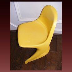 Vintage 1977 Casalino 0 Child's Chair - Yellow