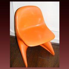 Vintage 1977 Casalino 0 Child's Chair - Orange