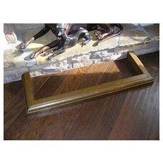 Antique Brass Fireplace Fender