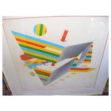 Large Bodo Pfeifer Modern Art Silkscreen Print signed and numbered