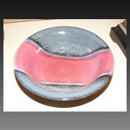 Beautiful Blue and Red Hand Made Pottery Bowl