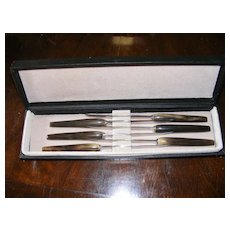 Superb set of 6 John Hasselbring Steak Knives