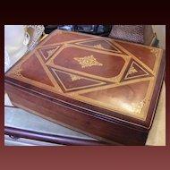 Vintage Italian Leather Box