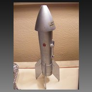 Vintage 1957 Berzac Metal Rocket Mechanical Bank
