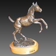 "Jim Reno Bronze Sculpture ""The Weanling"" 1986"