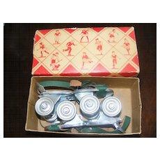 Vintage 1950s Toy - Hustler Whizzer Skates - New in Box