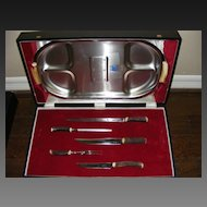 Large Vintage Presentation Boxed Carving Set from Neiman Marcus