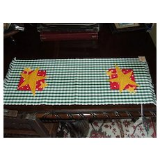 Hand Woven Folk Art Table Runner with Stars by Calico Collectables
