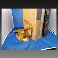Vintage Nautical Decor Brass Anchor Bookends