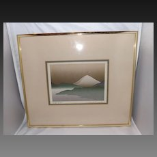 """Vintage 1985 Signed Lithograph """"First Snow"""""""