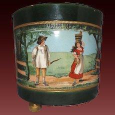 Hand Painted Antique Earthenware G&S Ltd. Albany & Harvey Burslem Centerpiece