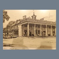 Signed and Numbered L. Meslay print of Washington's Home - Mount Vernon