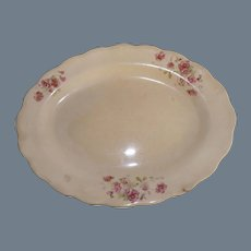 Antique Hand Painted Earthenware Small Platter